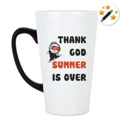 Кружка-хамелеон Thank God summer is over