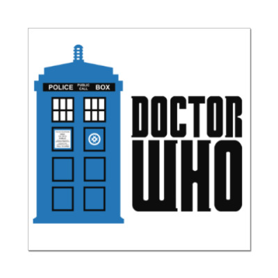 Наклейка (стикер) Doctor Who