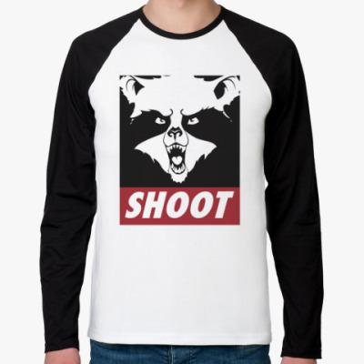 Футболка реглан с длинным рукавом Raccoon Shoot