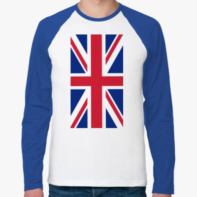 Футболка реглан с длинным рукавом Флаг Великобритании