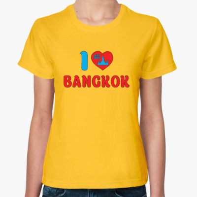 Женская футболка Я люблю Бангкок, я люблю Таиланд!