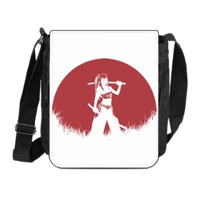 Сумка на плечо (мини-планшет) Аниме самурай