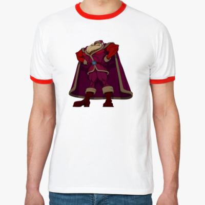 Футболка Ringer-T   Могучий Санта