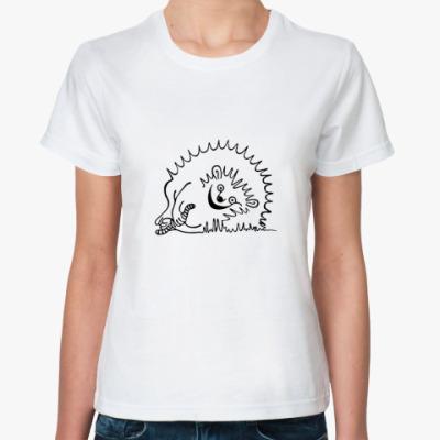 Классическая футболка Довольный Ёж