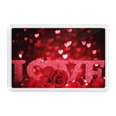 Магнит Любовь и роза, love