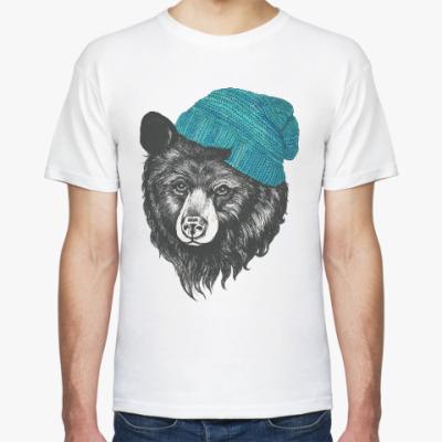 Футболка Медведь в шапке