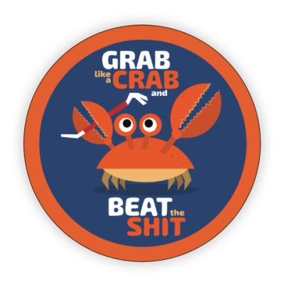 Костер (подставка под кружку) Grab like a crab