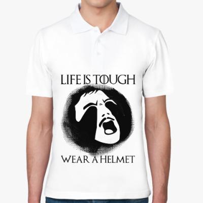 Рубашка поло  Wear a helmet