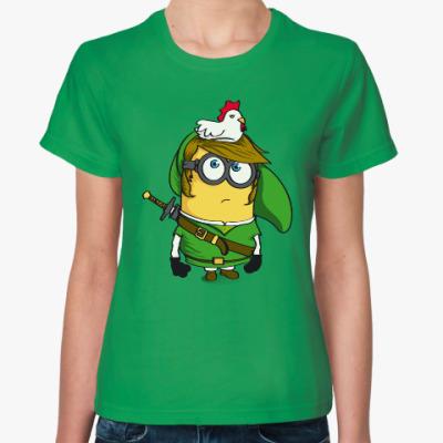 Женская футболка Миньон Зельда