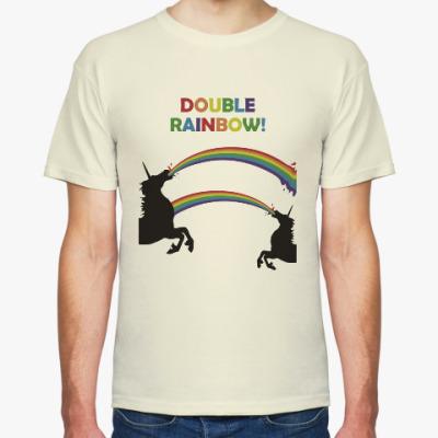 Футболка Двойная радуга