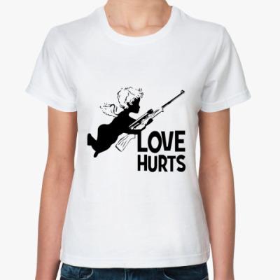 Классическая футболка Love hurts