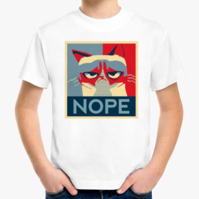 Детская футболка Grumpy cat - NOPE