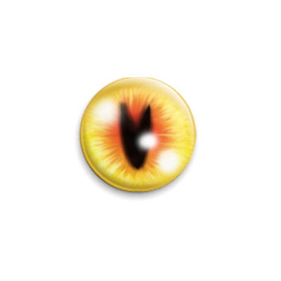 Значок 25мм глаз зверя