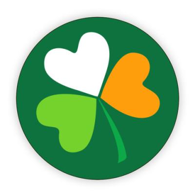 Костер (подставка под кружку) Ирландский клевер
