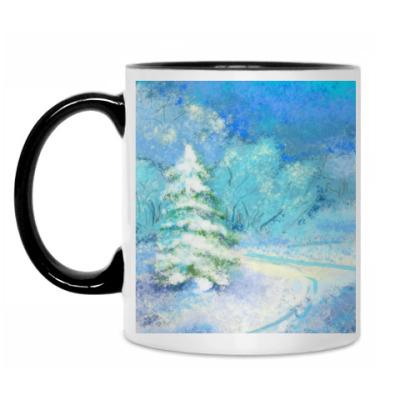 Кружка волшебная зима