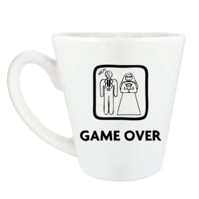 Чашка Латте Game Over