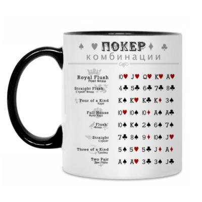 Кружка «Комбинации Покера»