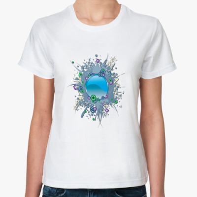 Классическая футболка Синие круги