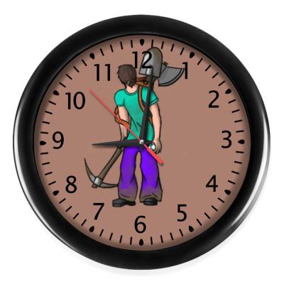 Настенные часы minecraft
