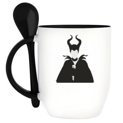 Кружка с ложкой Maleficent
