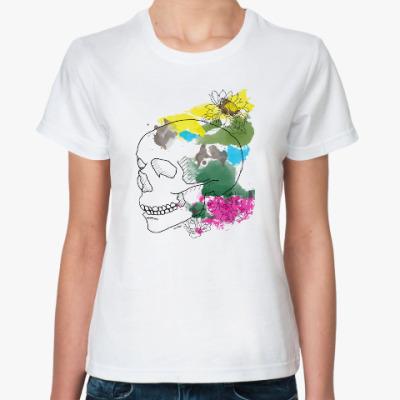 Классическая футболка  Июльский череп