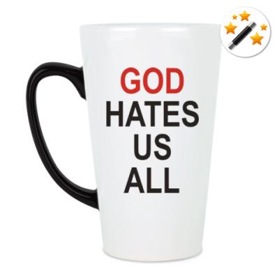 Кружка-хамелеон Бог ненавидит нас всех
