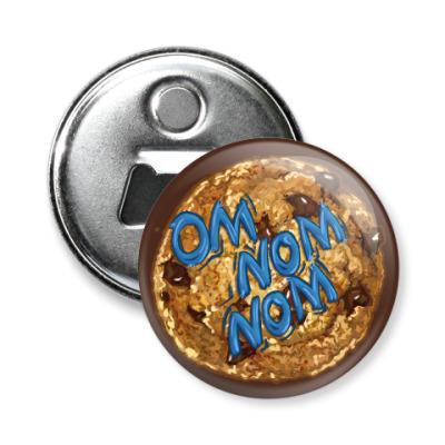 Магнит-открывашка Om nom nom Печенье Cookie Monster