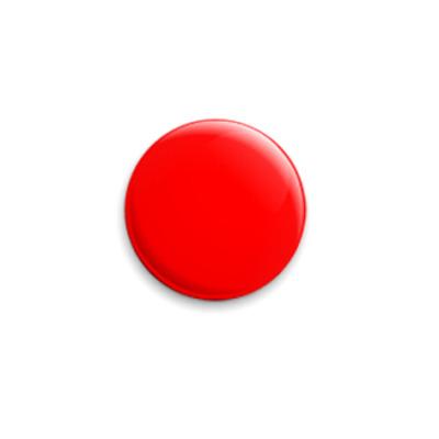 Значок 25мм «Red»