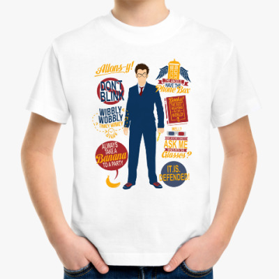 Детская футболка David Tennant- doctor