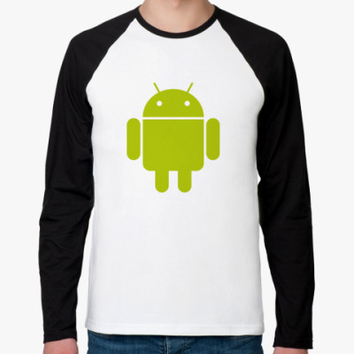 Футболка реглан с длинным рукавом  Android