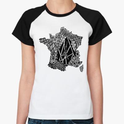 Женская футболка реглан French Zentangle