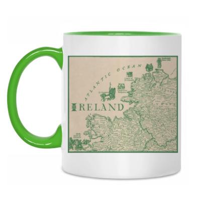 Кружка Ireland map