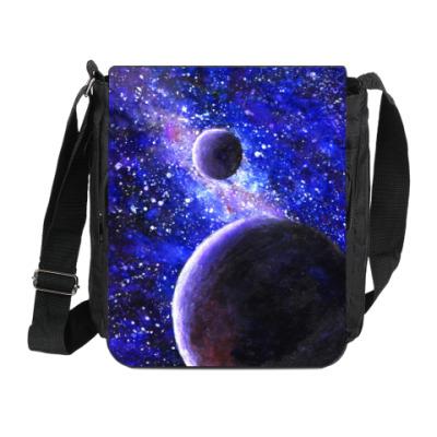Сумка на плечо (мини-планшет) Акварель - Космос и Планеты