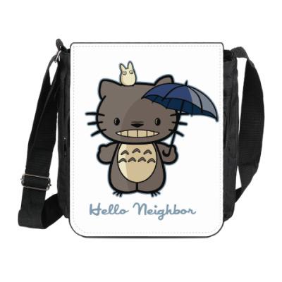 Сумка на плечо (мини-планшет) Hello Totoro