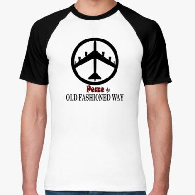 Футболка реглан Peace the oldfashioned way