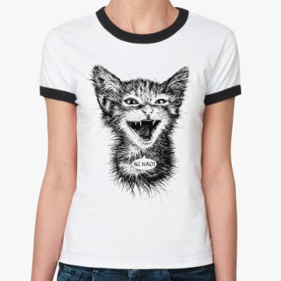 Женская футболка Ringer-T Нихао