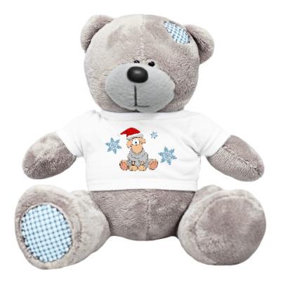 Плюшевый мишка Тедди Новогодняя Овечка