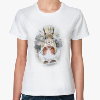 Классическая футболка Белочка!