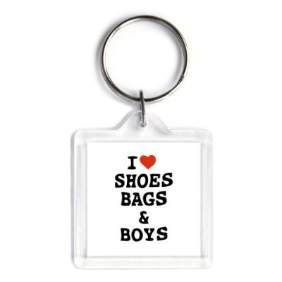 Брелок I Love Shoes, Bags & Boys