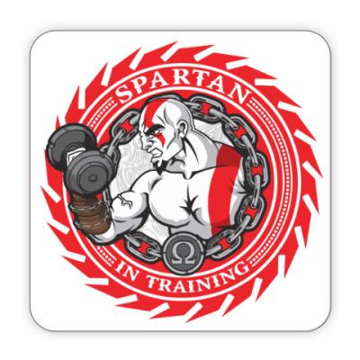 Костер (подставка под кружку) Спартанцы тренируются