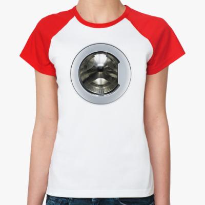 Женская футболка реглан Стиральная машина