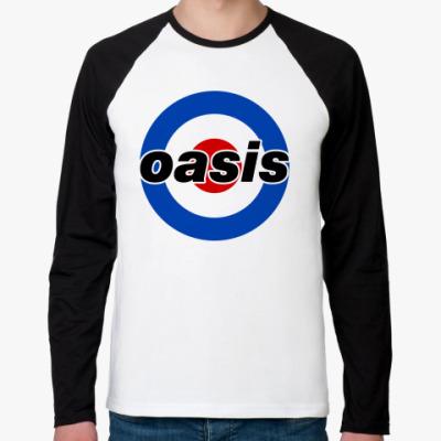 Футболка реглан с длинным рукавом  Oasis Mod Target