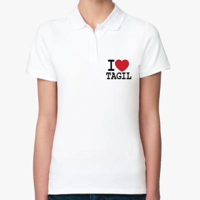 Женская рубашка поло I Love Tagil