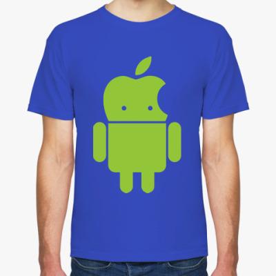Футболка Андроид голова-яблоко