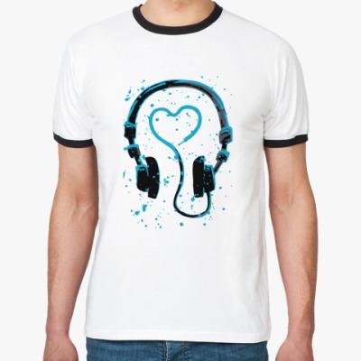 Футболка Ringer-T dj's heart