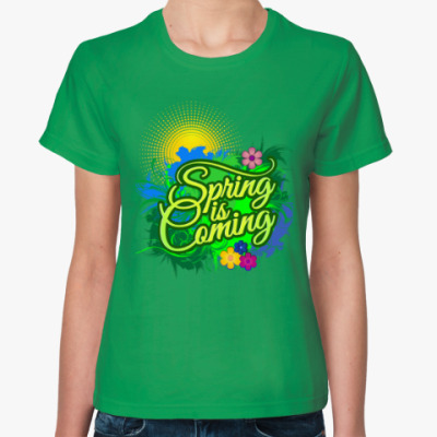 Женская футболка Spring is coming