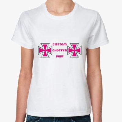 Классическая футболка chopper babe