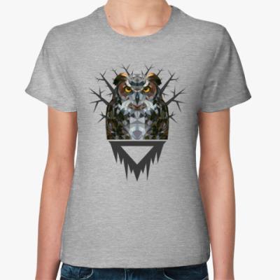 Женская футболка Геометрическая Сова