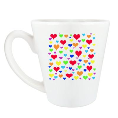 Чашка Латте 'Hearts'
