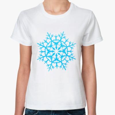 Классическая футболка Бумажная снежинка